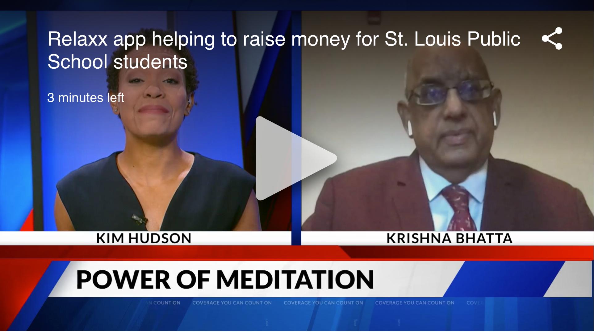 Krishna Bhatta talks about Relaxx App with Kim Hudson on Fox 2